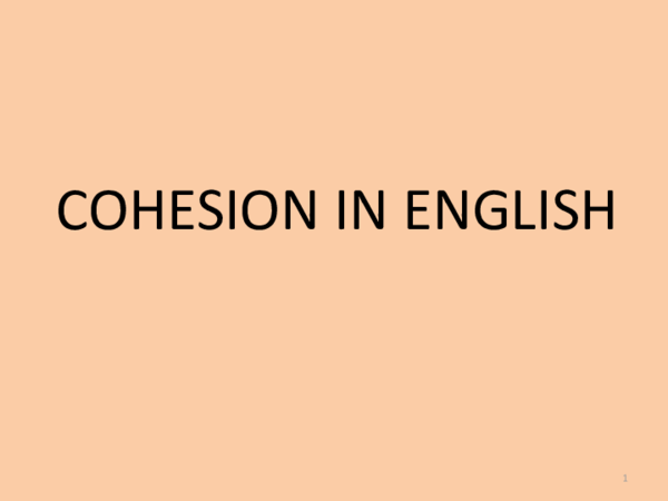 Cohesion In English Pdf