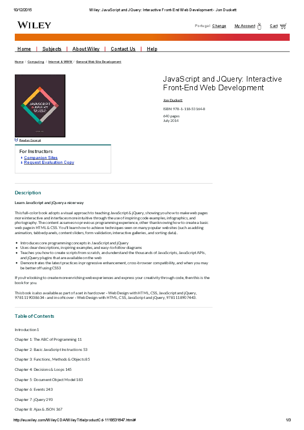 Pdf Javascript And Jquery Interactive Front End Duckett Koora Zone Academia Edu