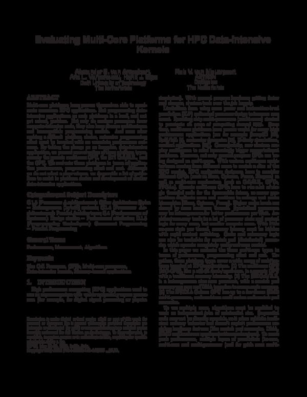PDF) Evaluating multi-core platforms for HPC data-intensive kernels