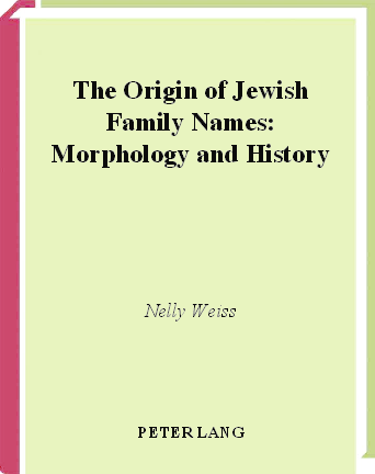 PDF) The Origin of Jewish Family Names: Morphology and