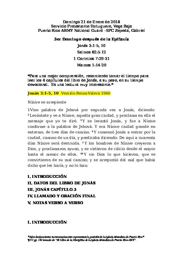 JONÁS 3:1-5, 10 El Pueblo de Nínive se arrepiente   Gabriel Zepeda ...