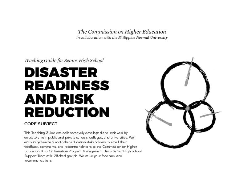 PDF) Teaching Guide for Senior High School DISASTER