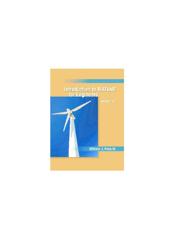 PDF) Introduction to Matlab for Engineer | thiên nhiên