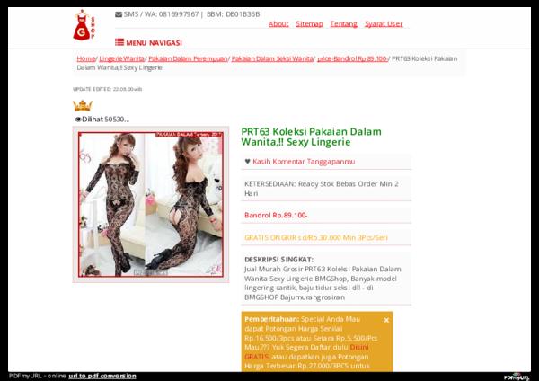 PRT63 Koleksi Pakaian Dalam Wanita fa122ce536