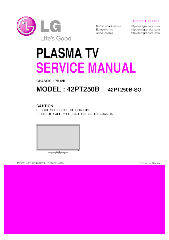 PDF) PLASMA TV SERVICE MANUAL CAUTION BEFORE SERVICING THE
