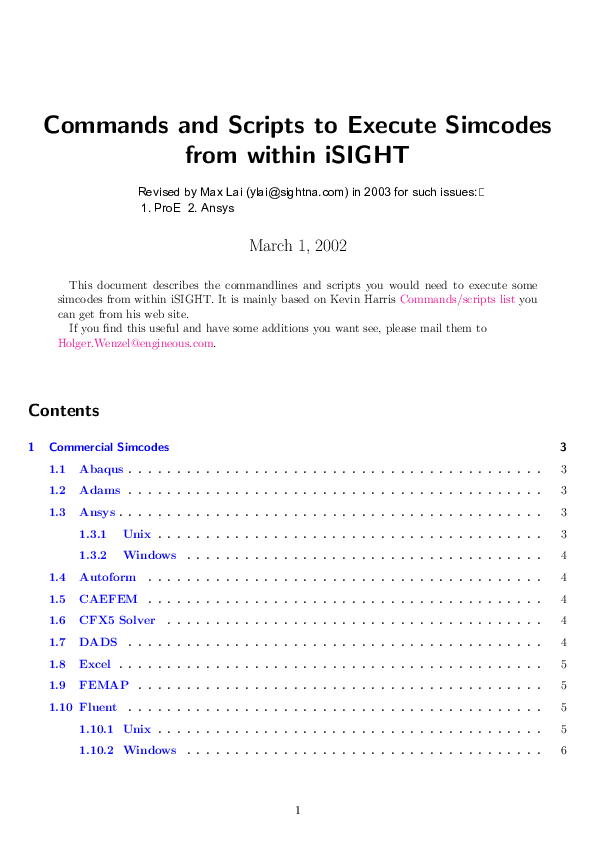 PDF) Commands and Scripts to Execute Simcodes from within