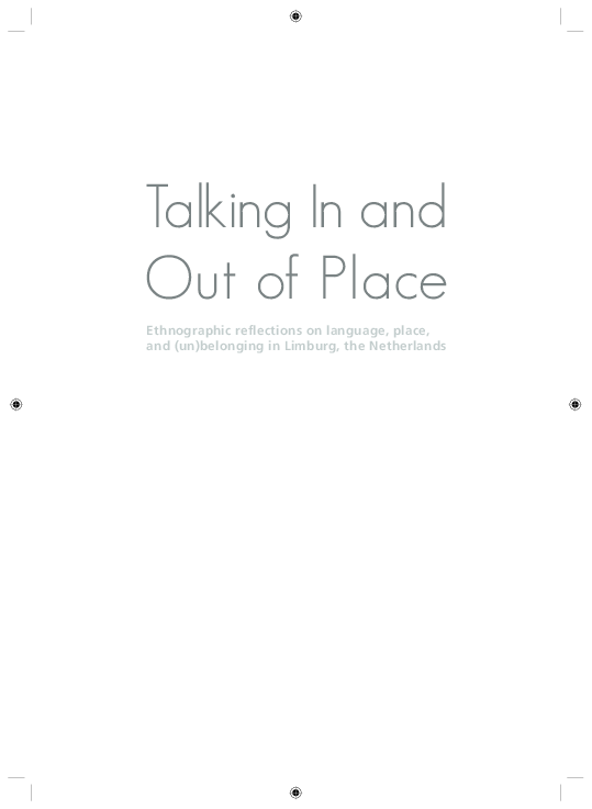 Goede PDF) Talking In and Out of Place: Ethnographic reflections on EZ-28