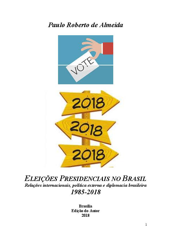 dcb5844cae PDF) Eleicoes presidenciais no Brasil  relacoes internacionais ...