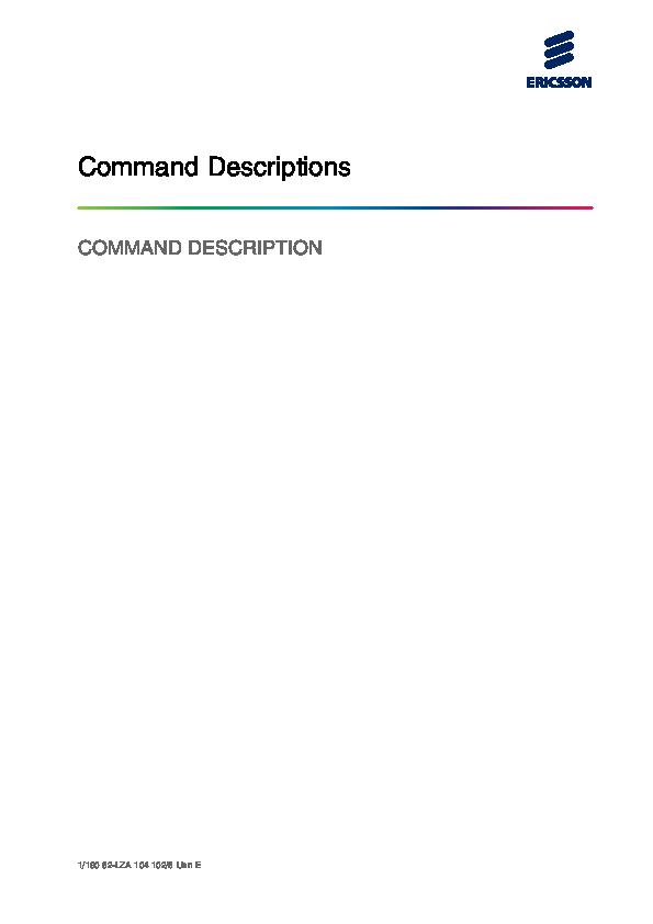 PDF) Command Descriptions COMMAND DESCRIPTION | Алексей К
