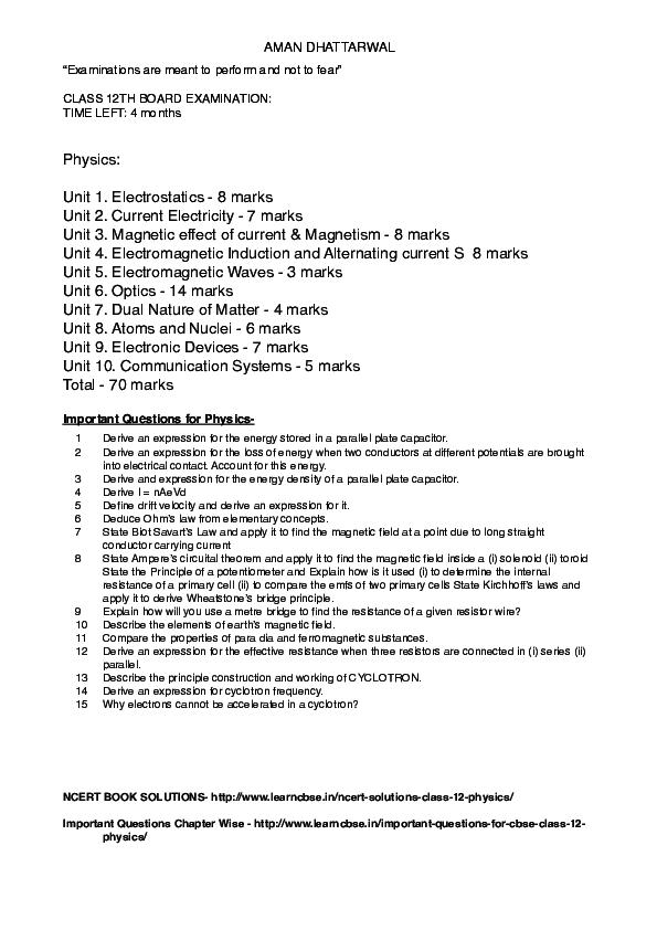 PDF) BOARDS NOTE | Sandipan Roy - Academia edu