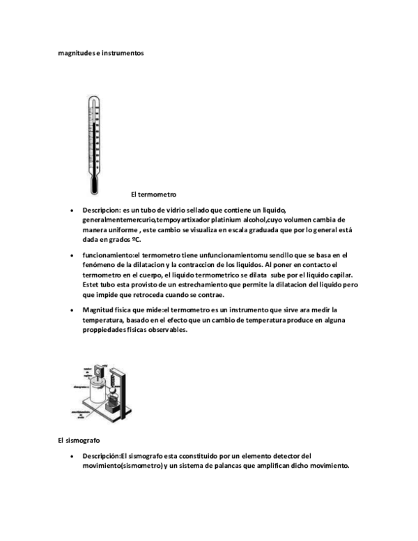 Doc Magnitudes E Instrumentos El Termometro Manuel Concoba Academia Edu