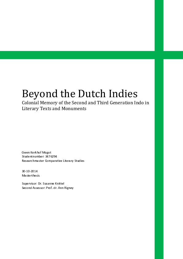 Onwijs PDF) Beyond the Dutch Indies Colonial Memory of the Second and FU-31