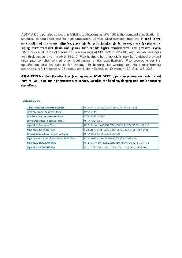 PDF) A106 GRADE B PIPE | Parin Shah - Academia edu