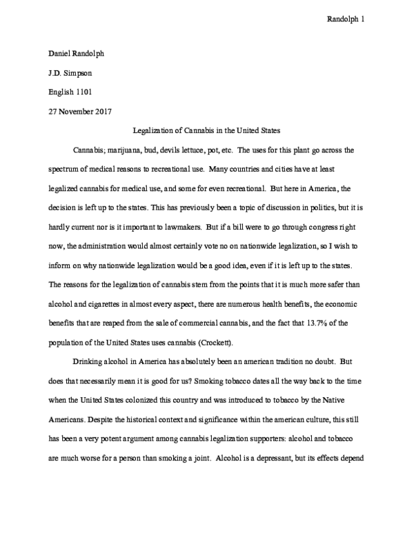 Sample Essay Papers  Thesis Statement For A Persuasive Essay also How To Write A Essay For High School Pdf Argumentative Essay Marijuana Legalization  Daniel  English Essay Com