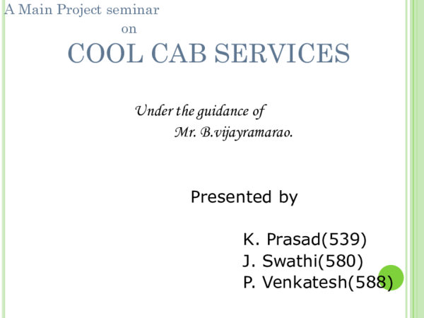 CAR RENTAL MANAGEMENT SYSTEM PROJECT PPT | madhu yadav