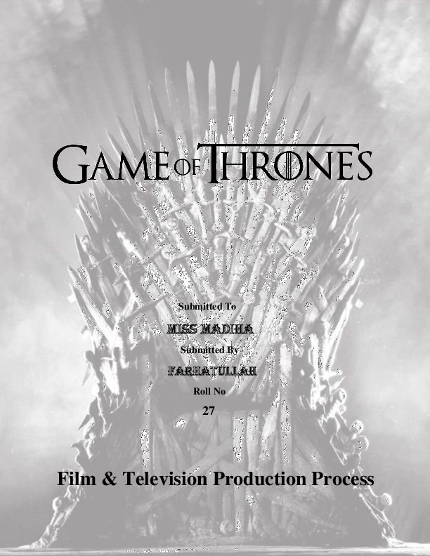 PDF) Game Of Thrones | Rai Farhatullah - Academia edu