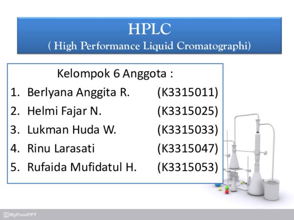 PPT) DISKUSI HPLC ppt | Rinu Larasati - Academia edu