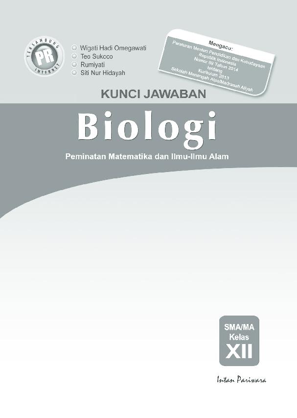 Pdf Kunci Jawaban Intan Pariwara Kelas 12 Biologi Ganno Kurniaji Academia Edu