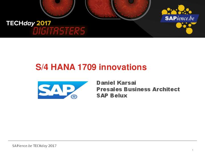 PDF) S/4 HANA 1709 innovations | vuppala vikram - Academia edu
