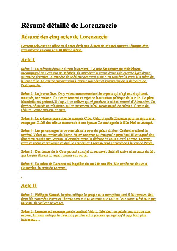 Resume de lorenzaccio popular paper editor services for school