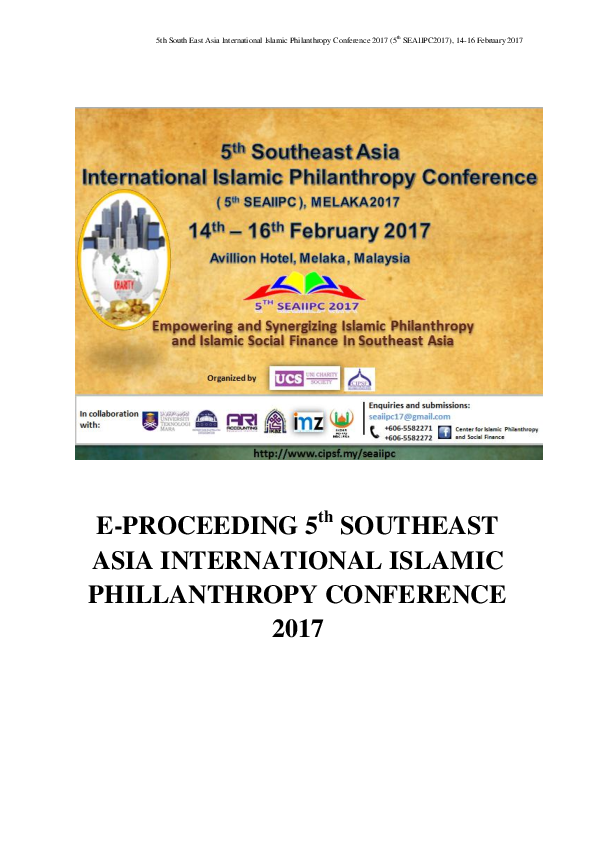PDF E PROCEEDING 5 th SOUTHEAST ASIA INTERNATIONAL ISLAMIC