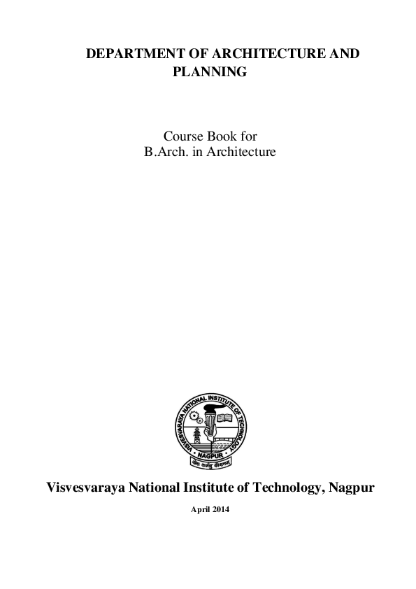 PDF) Course book for Architecture UG | Nitesh Kumar - Academia edu
