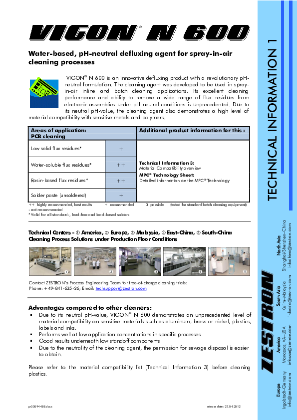 PDF) Water-based, pH-neutral defluxing agent for spray-in