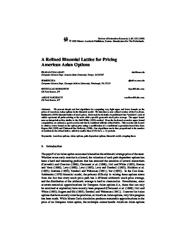 Intelligible asian option pdf