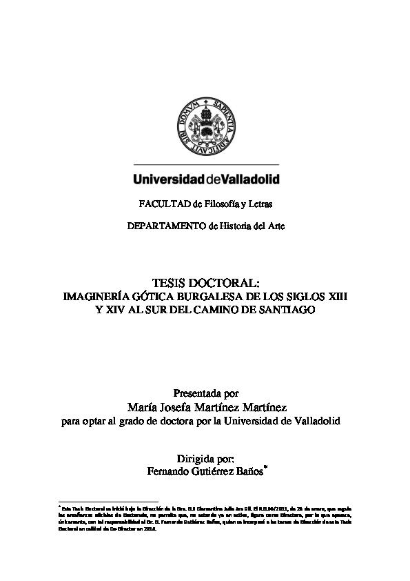 1a353ed07674 PDF) TESIS DOCTORAL  IMAGINERÍA GÓTICA BURGALESA DE LOS SIGLOS XIII ...