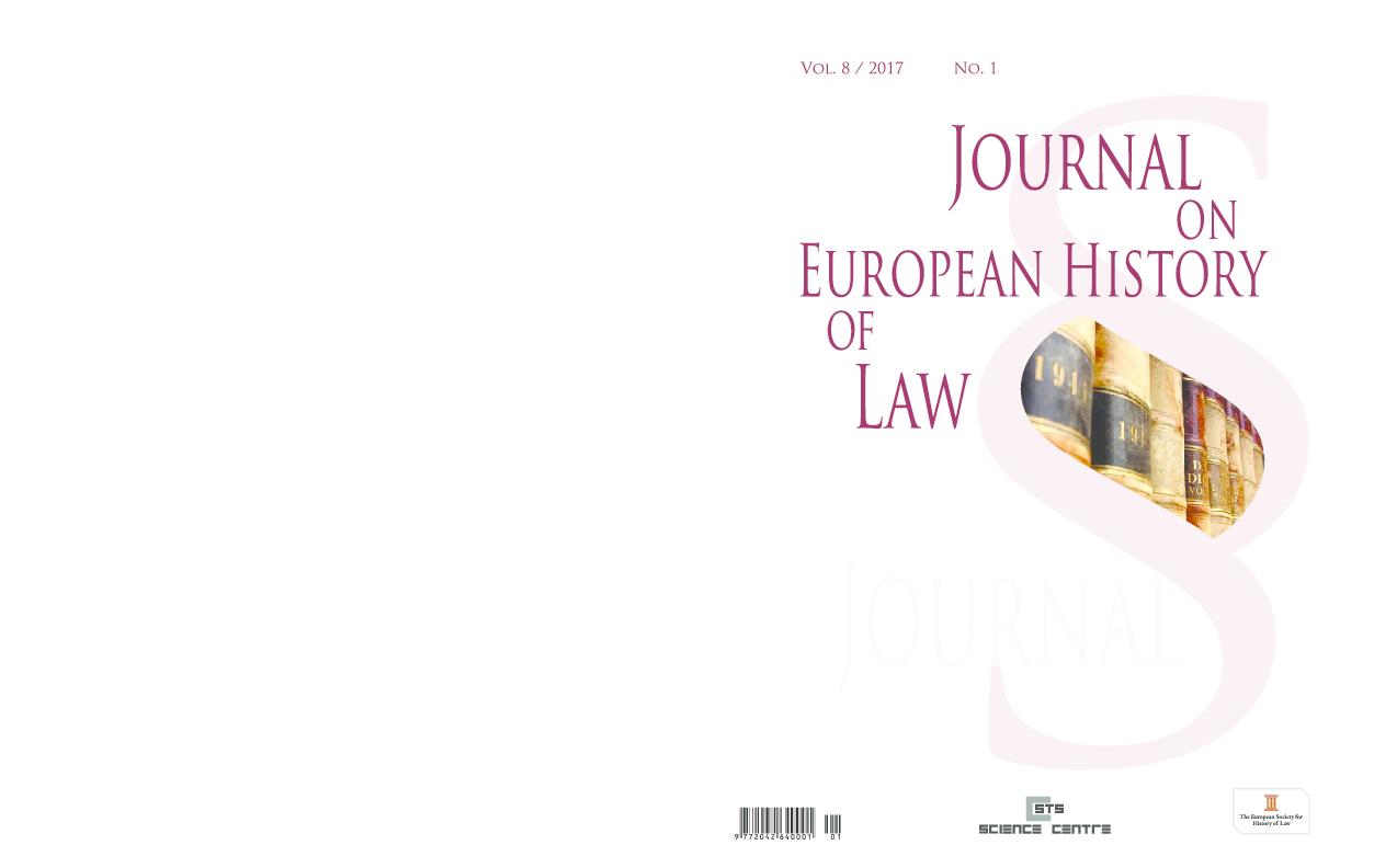 Pdf Juridifaction As An Ideology Of Polizeiwissenschaft In