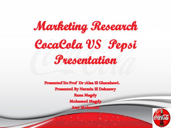 PPT) Cocacola marketing research Dr Alaa | mohamed magdy - Academia edu