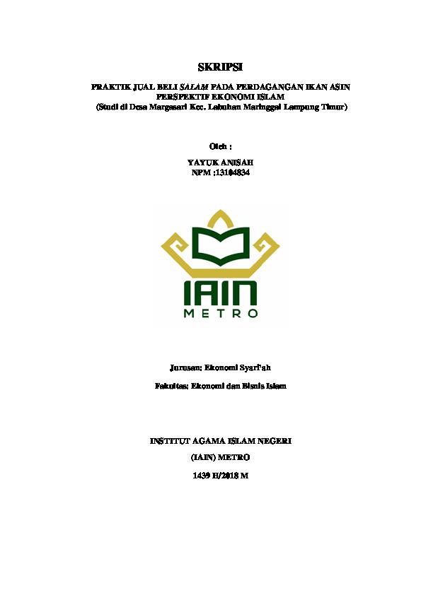 Pdf Skripsi Yayuk Anisah Npm 13104834 Yayuk Anisah Academia Edu