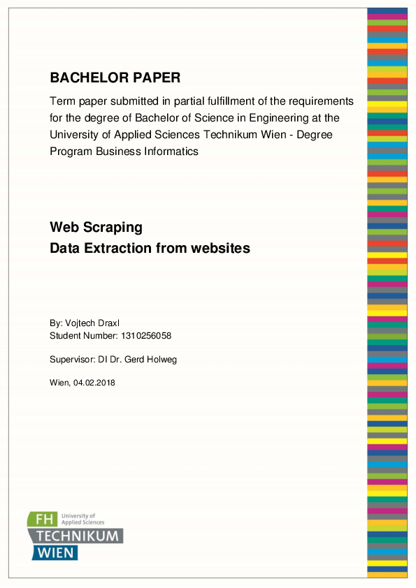 PDF) BACHELOR PAPER Web Scraping Data Extraction from