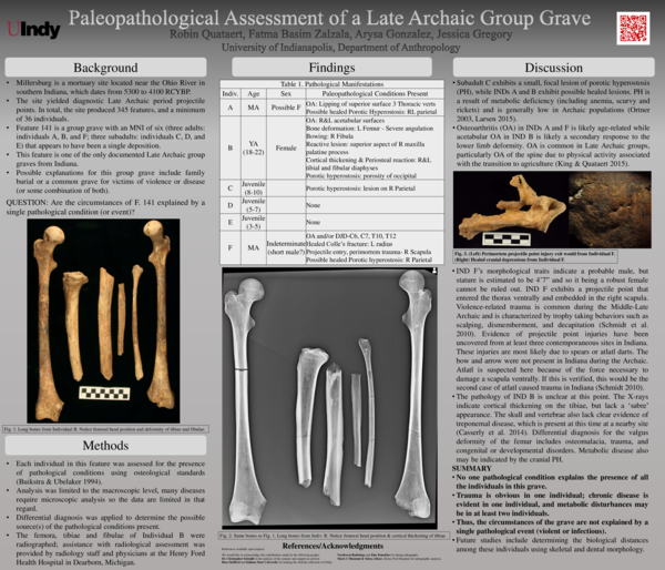PDF) Paleopathological Assessment of a Late Archaic Group Grave pdf