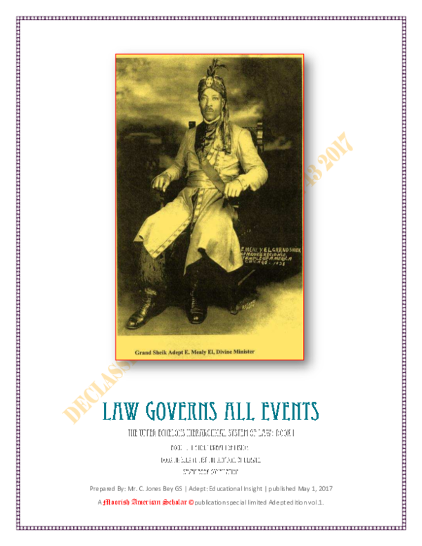 PDF) Law Governs All Events   C  Bey - Academia edu