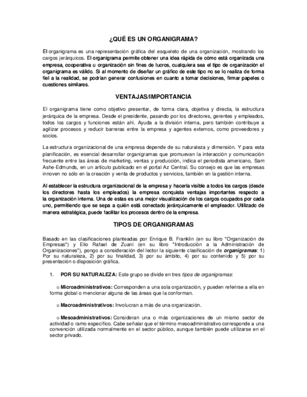 Doc Qué Es Un Organigrama Rogelio Armengol Cacho
