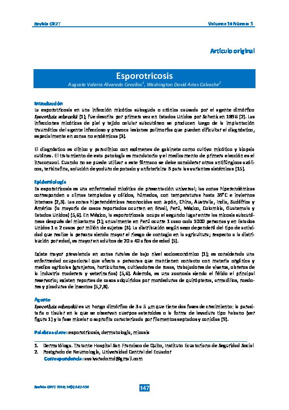 esporotricosis linfocutánea pdf