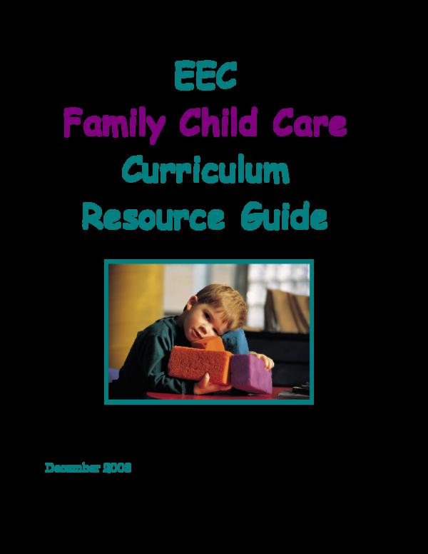 PDF) EEC Family Child Care Curriculum