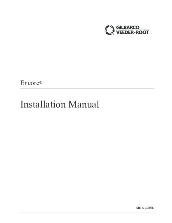 PDF) Encore ® Installation Manual MDE-3985L   Pablo Olivares