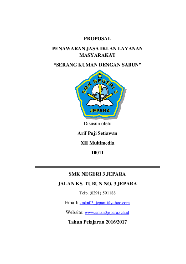 Doc Proposal Penawaran Jasa Iklan Layanan Masyarakat Arif