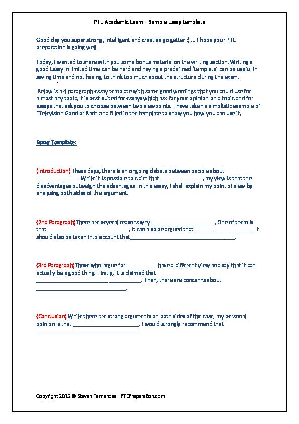 4 paragraph essay samples