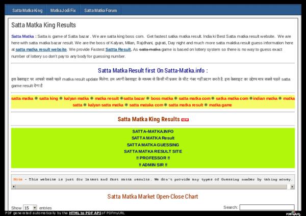 PDF) Satta Matka King Results SATTA–MATKA INFO SATTA MATKA