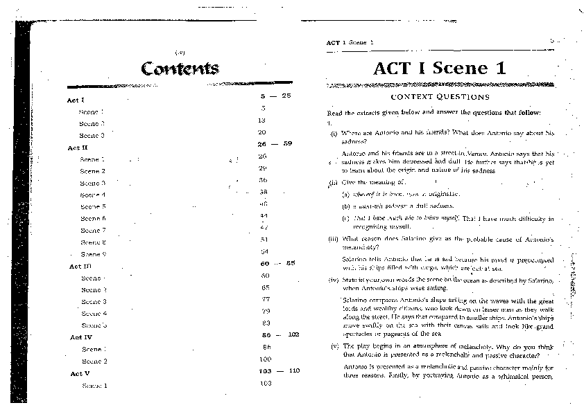 PDF) Merchant of venice workbook answer | bhagyesh maske