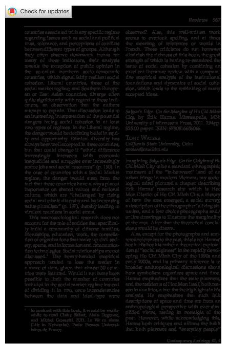 PDF) Review of Saigon's Edge by Harms pdf | Tony Waters - Academia edu