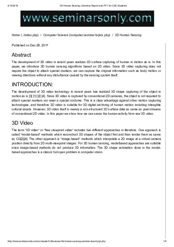3d Printing Seminar Report Pdf