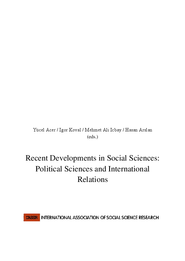 PDF) Recent Developments in Social Sciences: Political