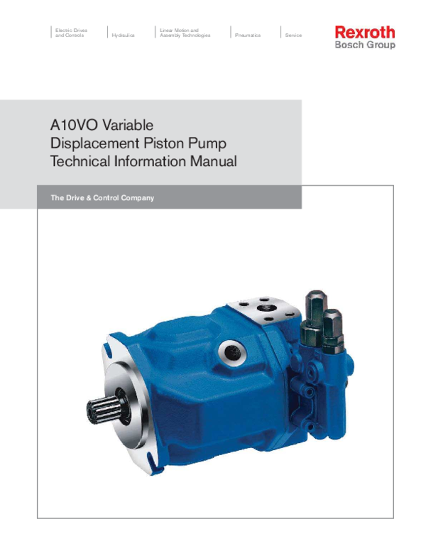 PDF) A10VO Variable Displacement Piston Pump Technical