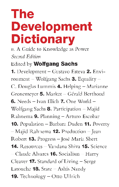 PDF) The Development Dictionary. A Guide to Knowledge as Power ...