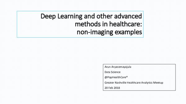 PDF) GNHA Meetup presentation | Arun Kiran Aryasomayajula