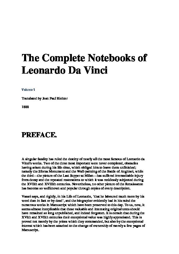 PDF) the-complete-works-leonardo-da-vinci.pdf   Bassam El Ghoul ...